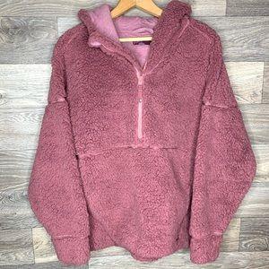 Prana Pink Sherpa Permafrost Half Zip Pullover
